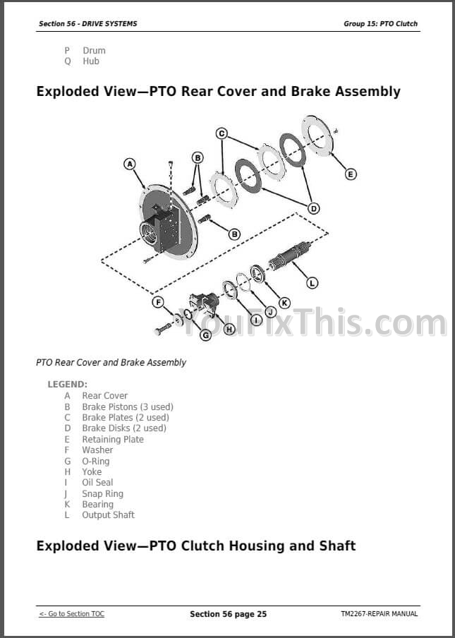 John Deere 9230 9330 9430 9530 9630 Repair Manual