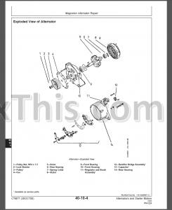 John Deere Alternators and Starter Motors Component