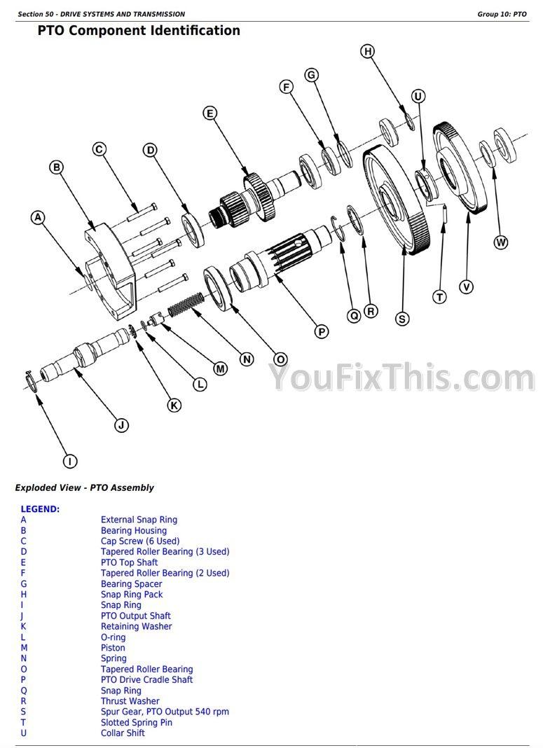John Deere 6105E 6120E 6135E Final Tier IV Repair Manual