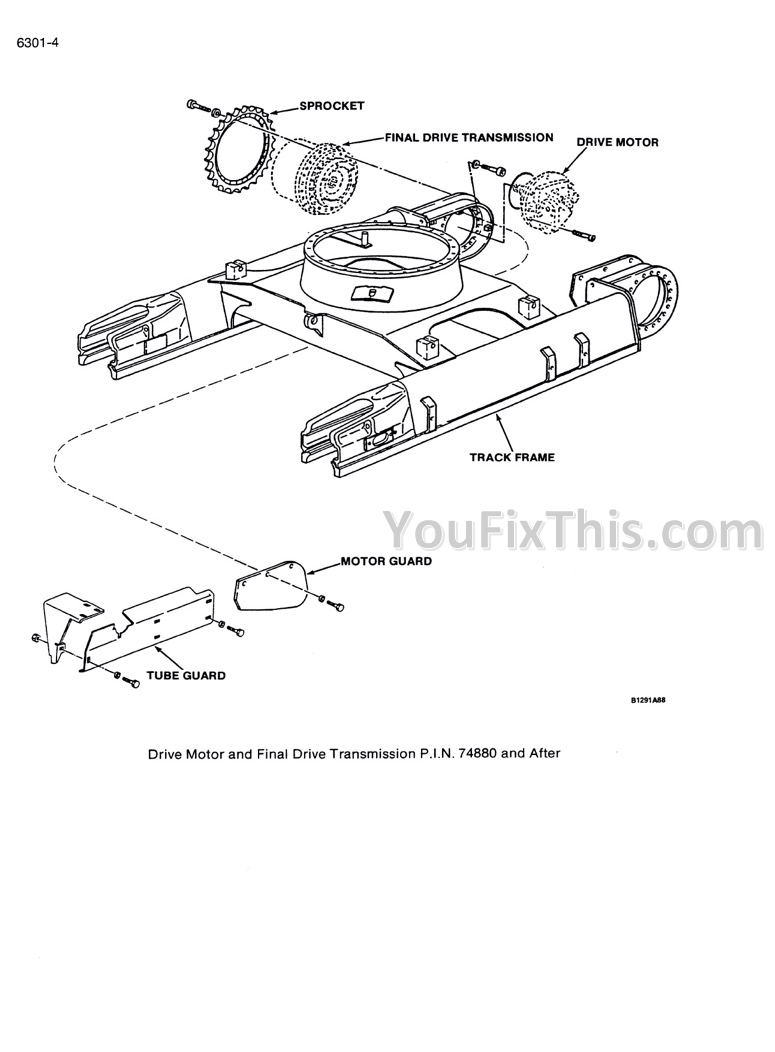 Case 125B Repair Manual [Crawler Excavator]