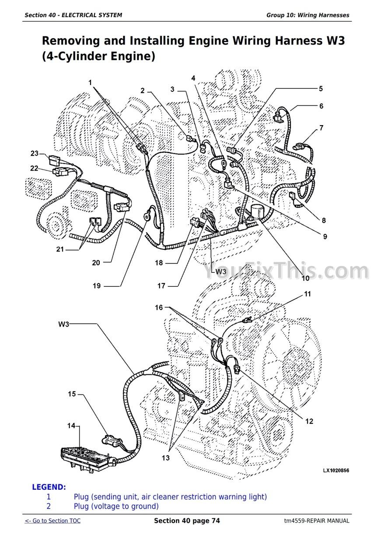 John Deere SE/ 6010 6110 6210 6310 6410 6510 6610 Repair Manual [Tractor] –  YouFixThisYouFixThis
