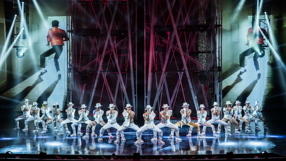 Photo of the act Beat It at Cirque du Soleil's Michael Jackson: ONE.