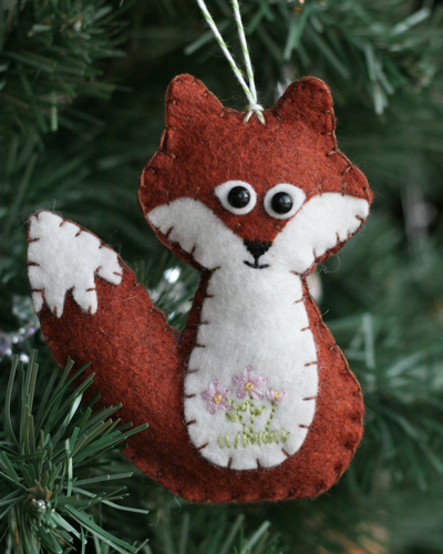 Felt Fox Ornament : ornament, Girl!:, Ornament