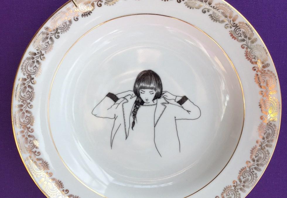 [ILLUSTRATION] @PoMMettes : nouvelle vaisselle vintage, par Alice et Delphine