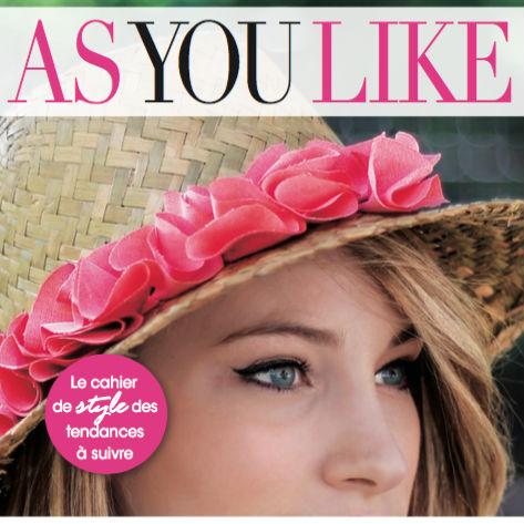 [MEDIA] AS YOU LIKE : Lancement du magazine et rédaction pour les rubriques art et voyage