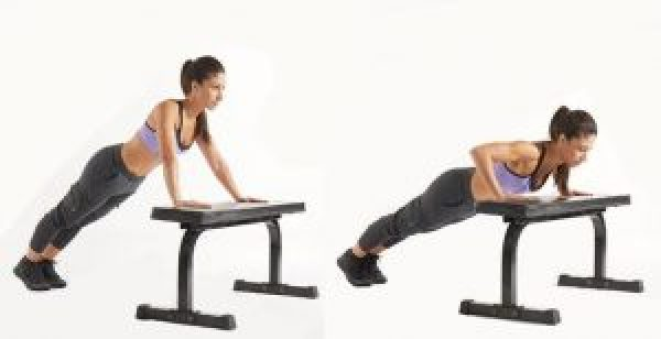 body weight exercises incline push up