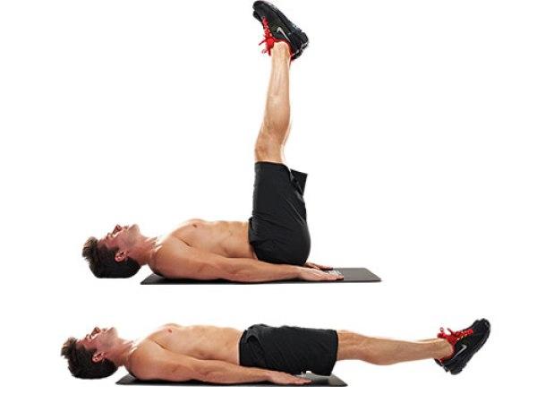 body weight exercises lying leg raises