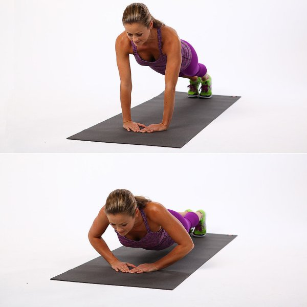 body weight exercises narrow width push ups