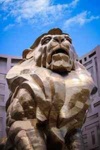 MGM Lion statue.