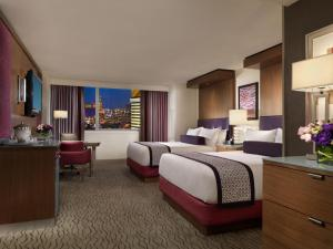 The Mirage Hotel and Casino room with double full sized beds.
