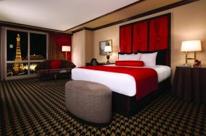Paris Las Vegas large room with King size bed.