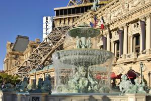Paris Las Vegas water fountain