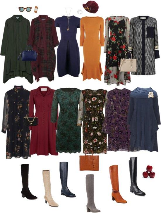 Ensemble: Dresses & Knee-High Boots