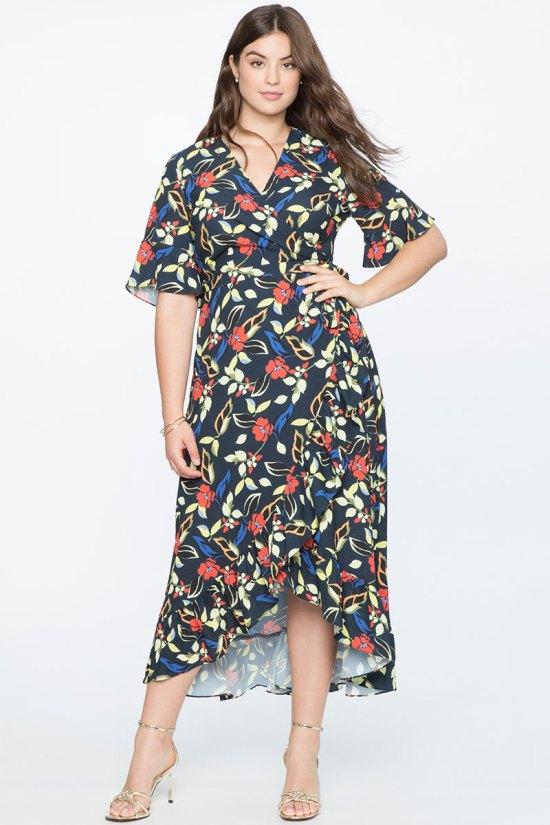 Eloquii High-Low Wrap Dress