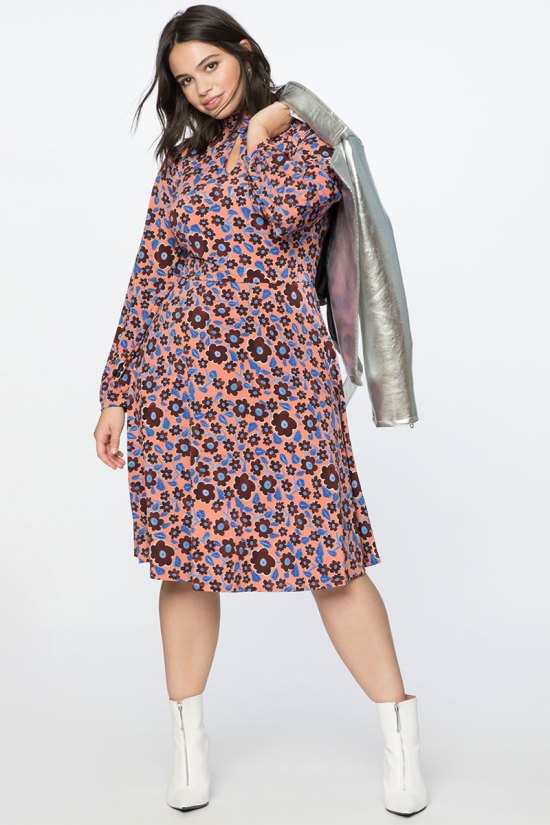 Eloquii Printed Knit Fit and Flare
