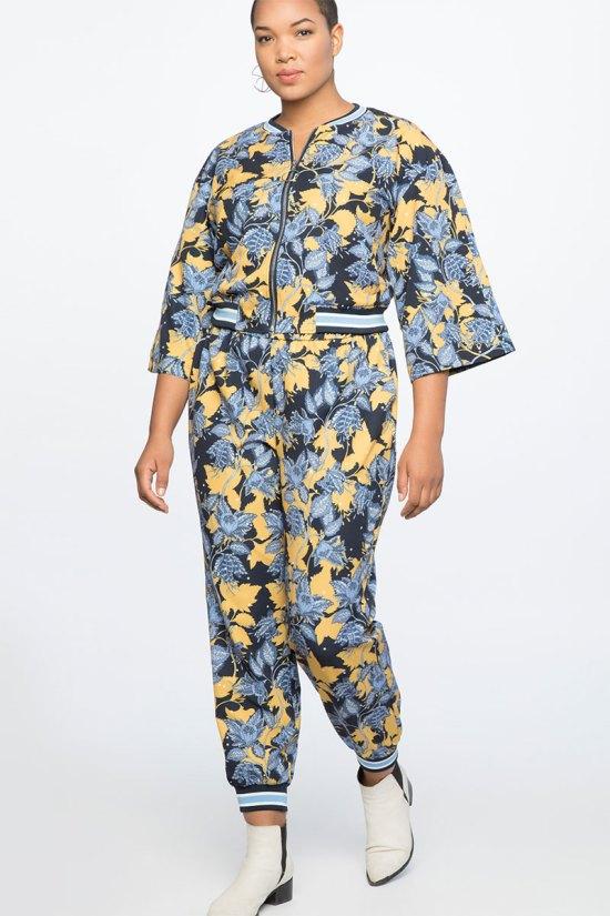 Eloquii Kimono Sleeve Bomber Jacket