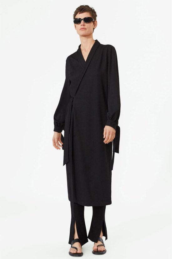 Zara Double Breasted Shirt Dress