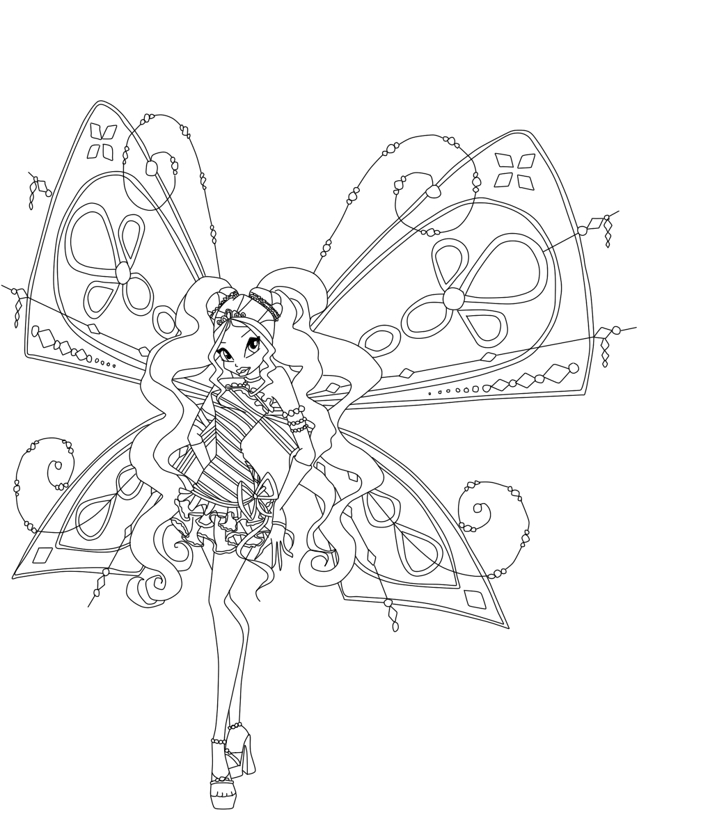 roxy Colouring Pages
