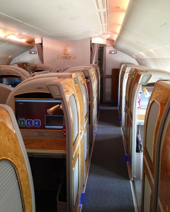 Emirates first class cabin via youmademelikeyou.com