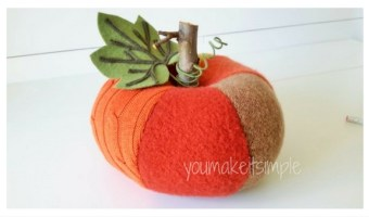Upcycled Sweater Pumpkins – New Video Tutorial