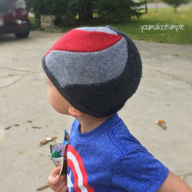spiral beanie sewing pattern - youmakeitsimple.com