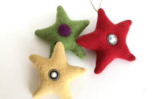 Upcycled Sweater Stars – Free Pattern and Tutorial