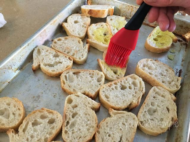basting bread- bruschetta