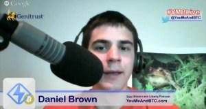 Daniel Brown on #YMBLive Bitcoin Headlines