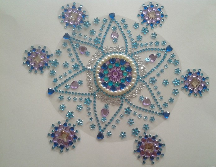 new kundan rangoli design