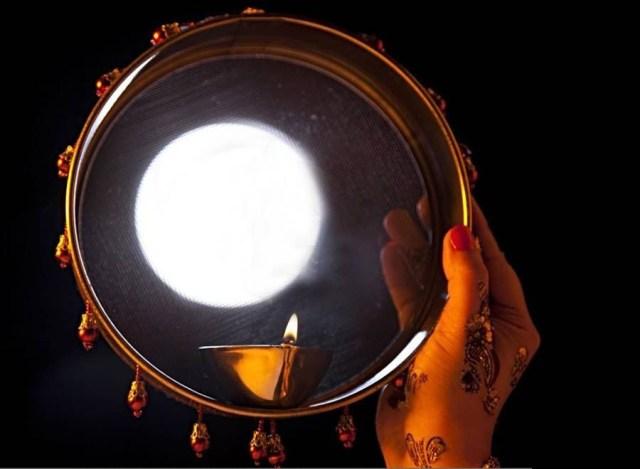 karva chauth moon images