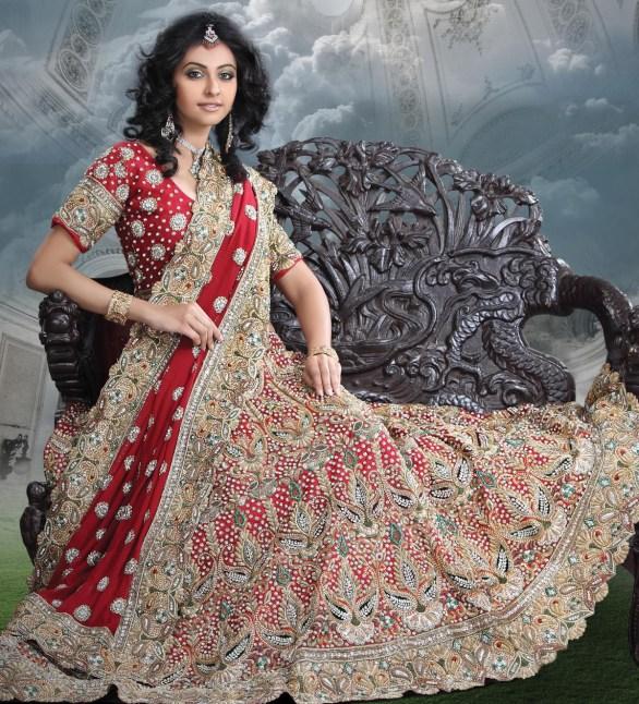 maroon bridal lehanga