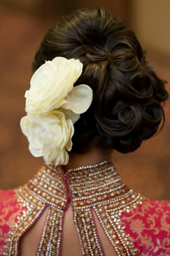 most popular indian bridal hairstyle