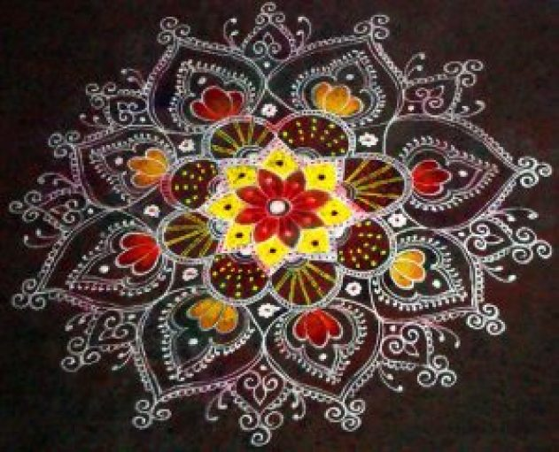 kolam designs for deepawali