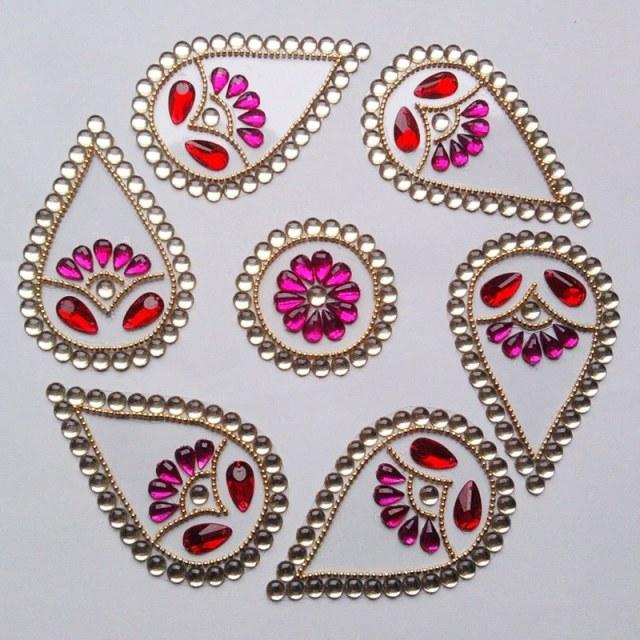 wedding kundan rangoli design