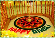 happy diwali rangoli design