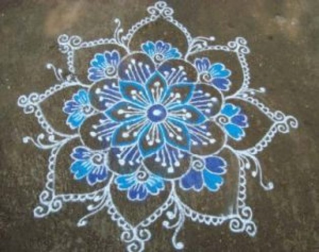 Top 20 Latest Simple Kolam Designs With Dots Images