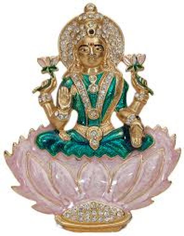 mata lakshmi gold statue