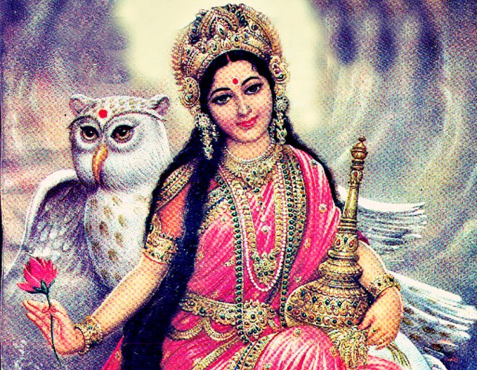 mata laxmi with vaahan