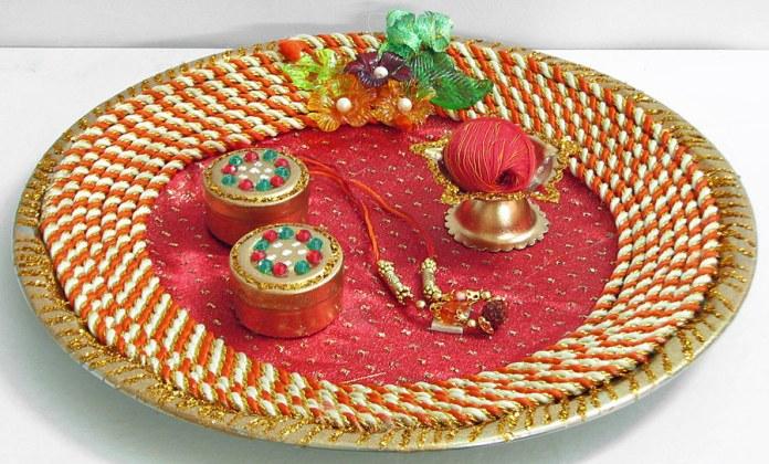 navaratri Puja thali decoration