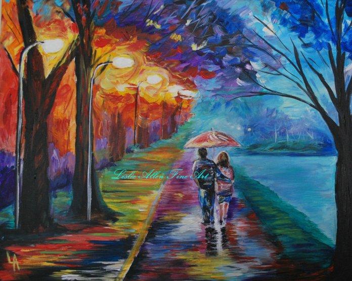 lovers beautiful scenery
