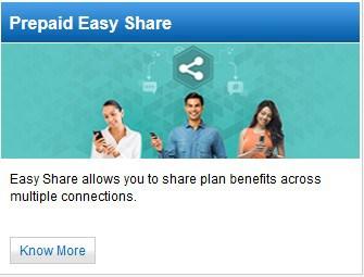 prepaid-easy-share idea -mobile internet transfer mobile data transfer