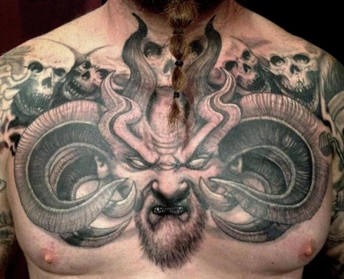 Cool Chest Tattoo Design For Men