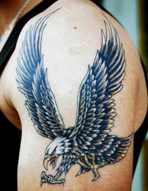 Eagle Shoulder Tattoo Design For Men