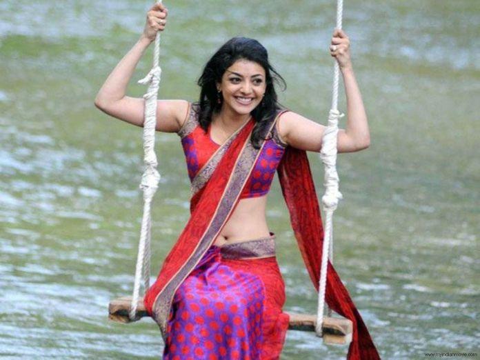 kajal agrawal hot sari wallpapers