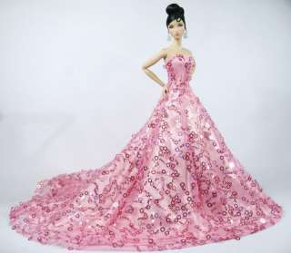 barbie in a pink gown images
