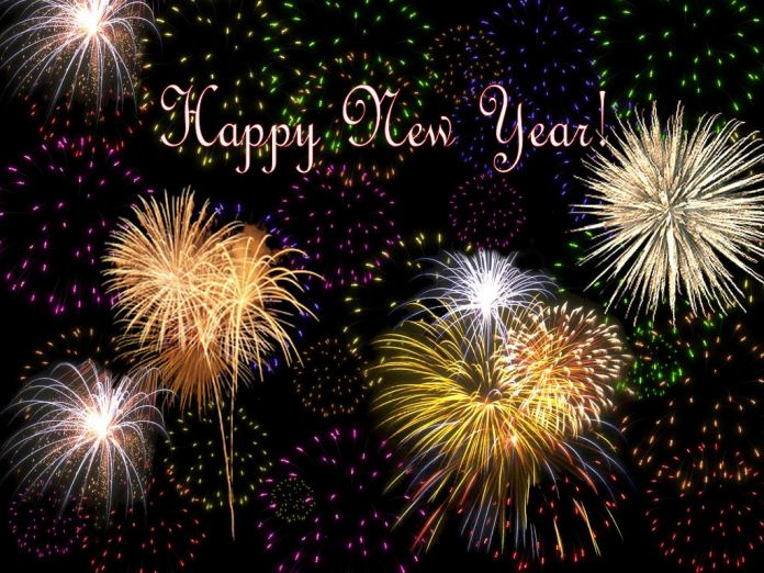 happy new year images with fireworks