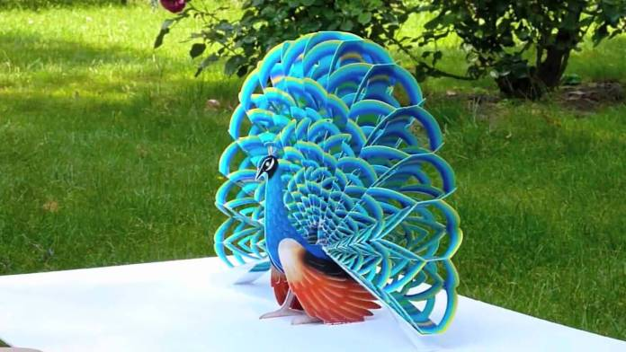 peacock beautiful paper craft images