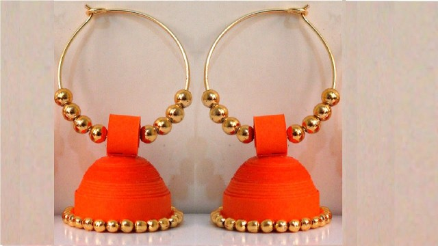 paper quilled jewellery jhumka designs