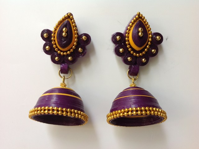 beautiful paper quilling jhumka