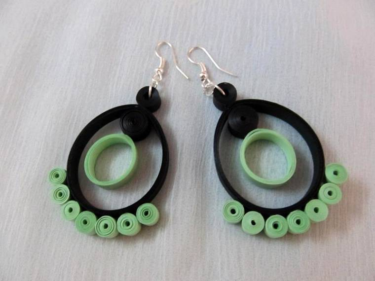 Quilling Earrings Designs Images : Latest Beautiful Easy Paper Quilling Jewellery Designs Images Photos Collection